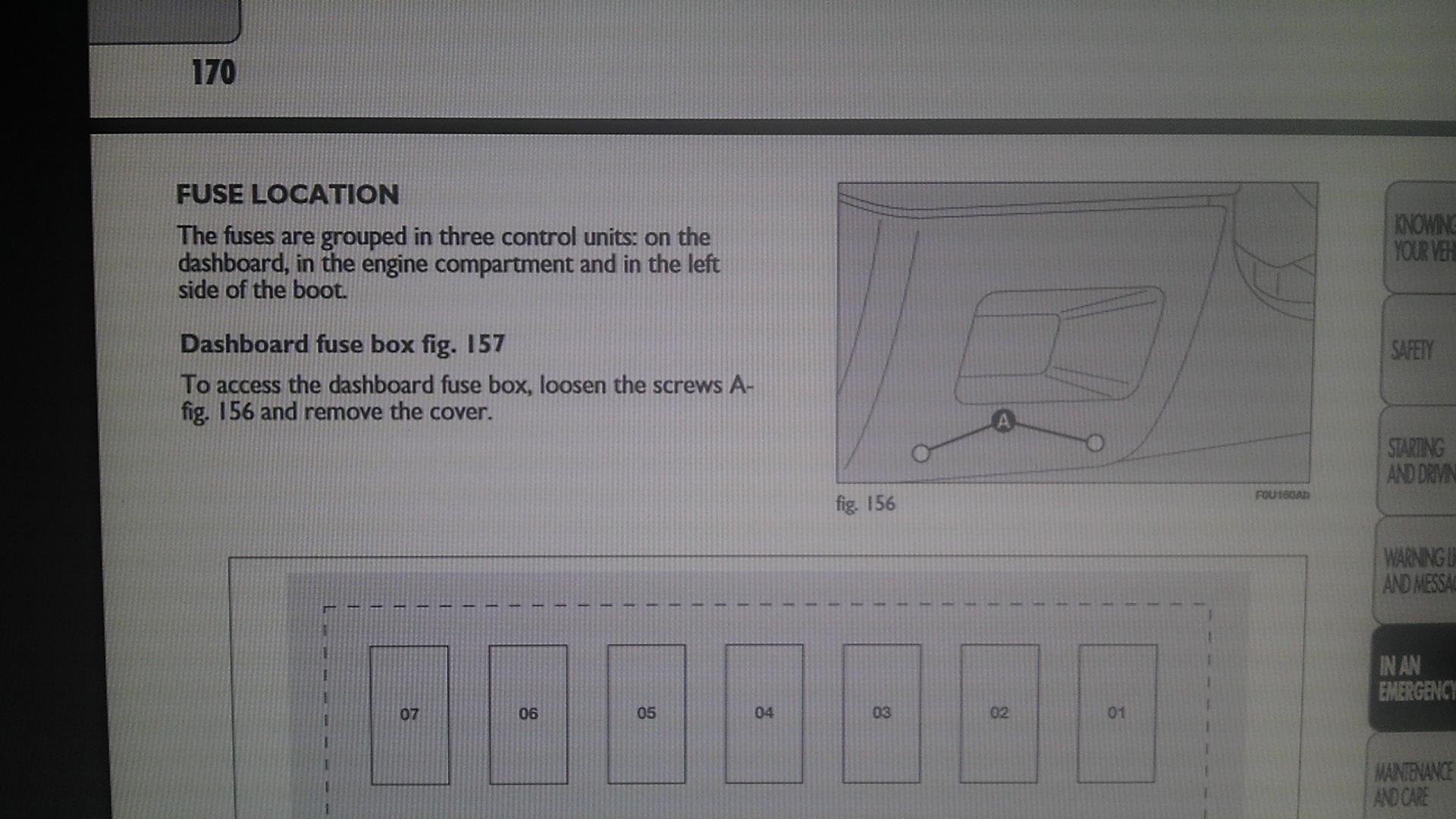 Fiat Grande Punto Ema Osiguraa Menjanje Kutija Sa Where Is A Fuse Box Imag1422