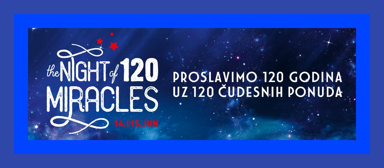 Night of Miracles 2019 - Proslavimo 120 godina uz 120 čudesnih ponuda