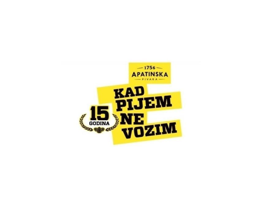 Apatinska pivara obeležila 15 godina kampanje ''Kad pijem ne vozim''